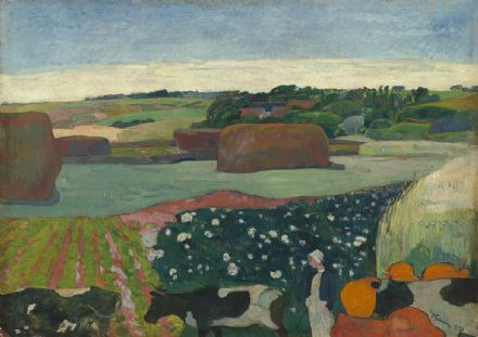 Gauguin, Paul: Haystacks in Brittany. Fine Art Print/Poster. Sizes: A4/A3/A2/A1 (003560)
